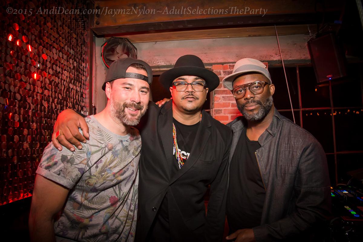 Wesley Holmes, Mateo Senolia and Jaymz Nylon