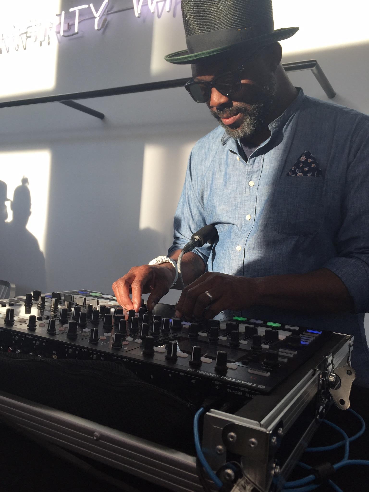 Jaymz Nylon DJing  @ Likelihood Store Opening
